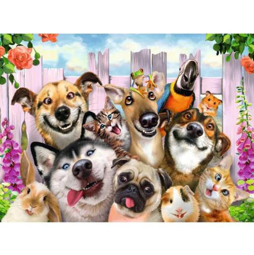 5D Diamond Painting Funny Pet Faces Kit