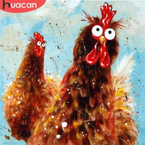 5D Diamond Painting Crazy Roosters Kit