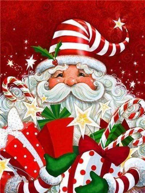 5D Diamond Painting Santa With Gifts and Candy Kit