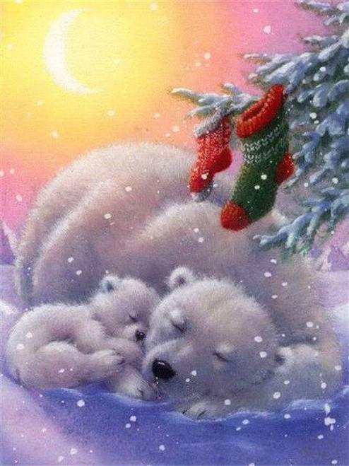 5D Diamond Painting Polar Bear Stockings Kit
