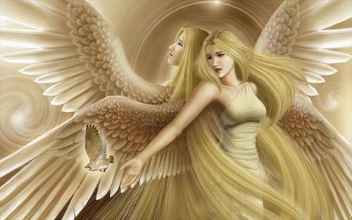 5D Diamond Painting Two Angels & Bird Kit