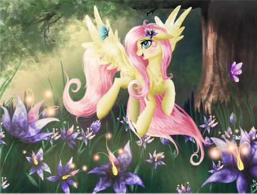 5D Diamond Painting My Little Pony Fluttershy with Flowers Kit