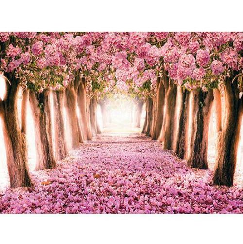 5D Diamond Painting Pink Flower Lane Kit