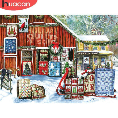 5D Diamond Painting Holiday Quilts Sale Kit