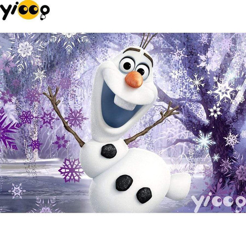 5D Diamond Painting Purple Snowflake Olaf Kit