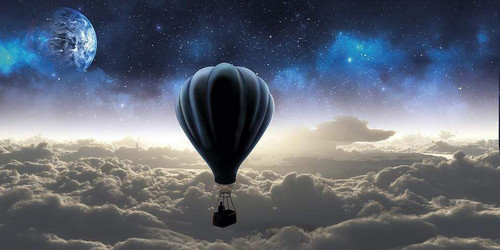 5D Diamond Painting Hot Air Balloon and Planet Kit