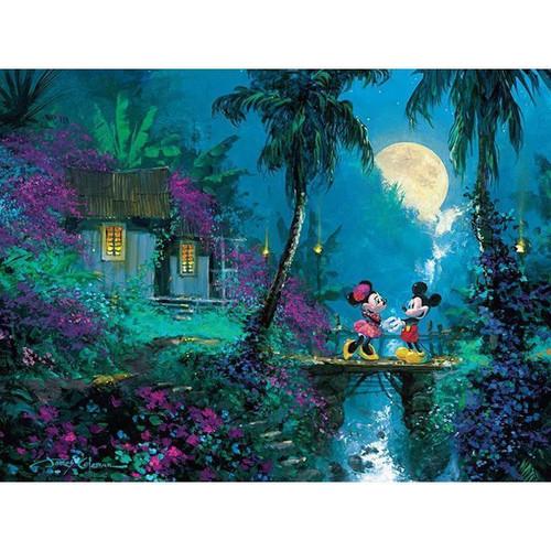 5D Diamond Painting Mickey and Minnie Full Moon Bridge Kit