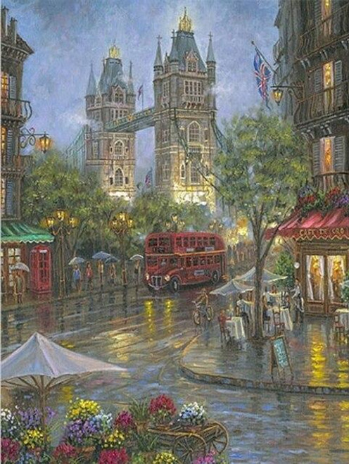 5D Diamond Painting London Rain Kit