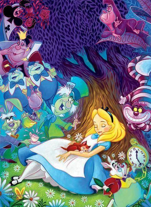 5D Diamond Painting Alice Under a Tree Kit