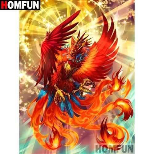 5D Diamond Painting Red Feather Phoenix Kit