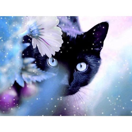 5D Diamond Painting Black Cat Kit