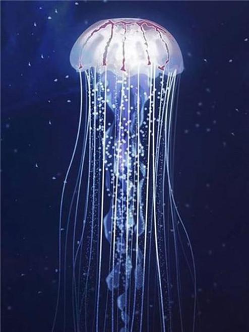 5D Diamond Painting White Jelly Fish Kit