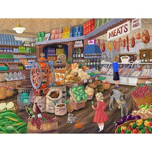 5D Diamond Painting Pets in the Super Market Kit