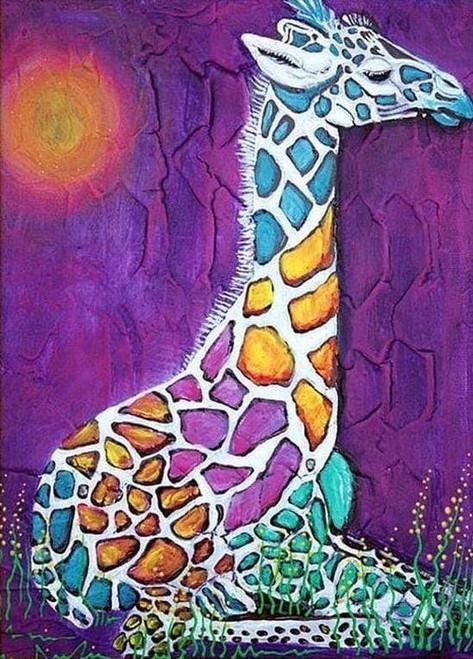 5D Diamond Painting Abstract Giraffe Kit
