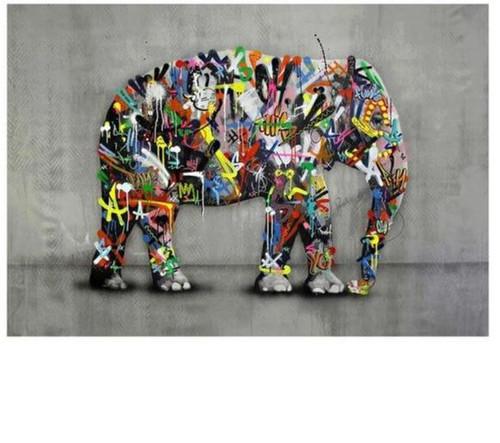 5D Diamond Painting Graffiti Elephant Kit