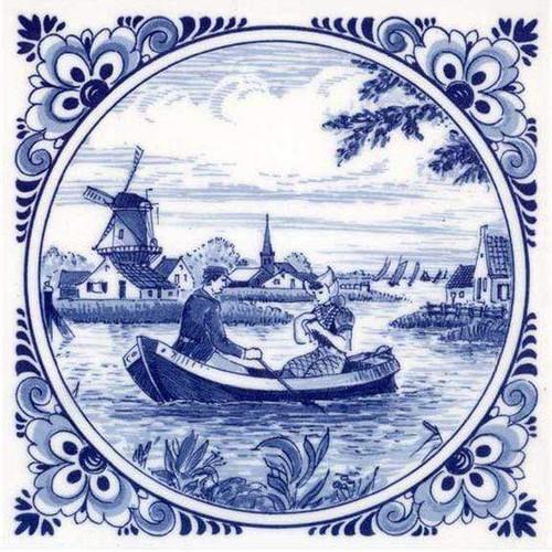 5D Diamond Painting Delft Blue Boating Kit