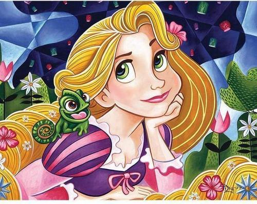 5D Diamond Painting Tangled Rapunzel and Pascal Kit