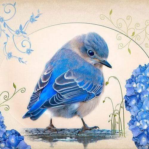 5D Diamond Painting Little Blue Bird Kit