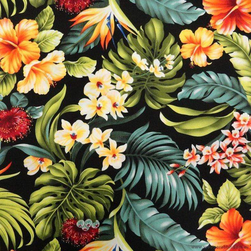 5D Diamond Painting Ferns and Tropical Flowers Kit