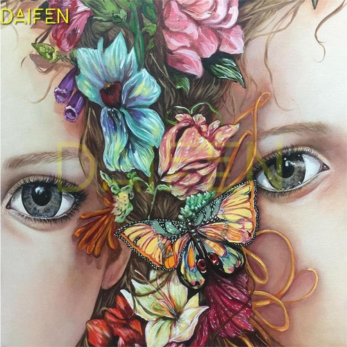 5D Diamond Painting Two Eyes Butterfly Kit