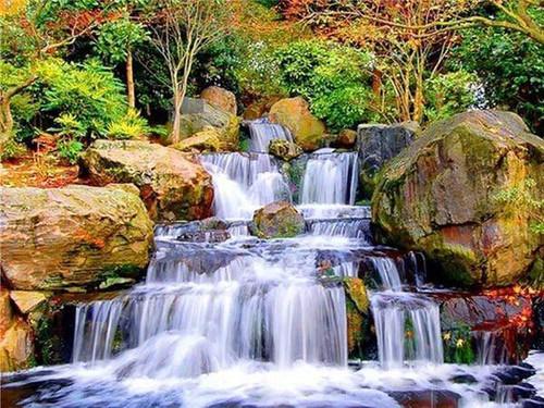 5D Diamond Painting Waterfall in the Rocks Kit