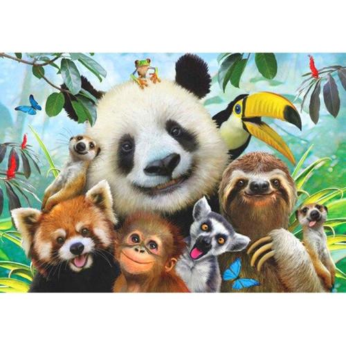 5D Diamond Painting Happy Panda and Friends Kit