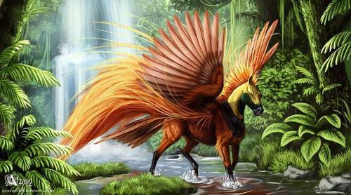 5D Diamond Painting Brown Feather Pegasus Kit