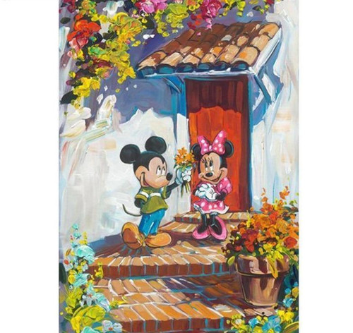 5D Diamond Painting Flowers for Minnie Mouse Kit