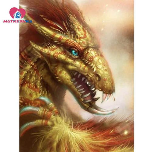 5D Diamond Painting Green Eyed Dragon Kit