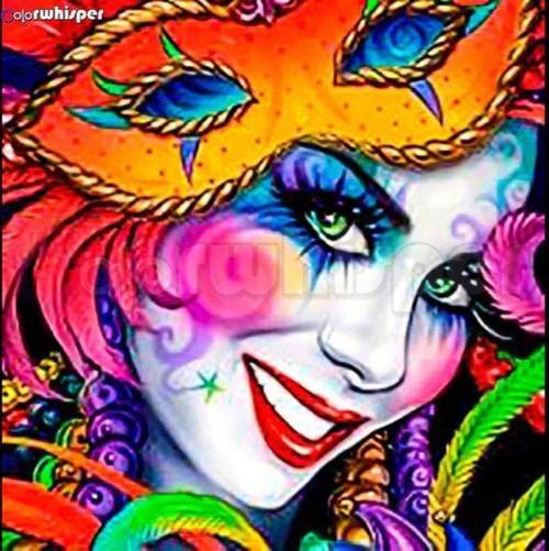 5D Diamond Painting Orange Mask Mardi Gras Kit