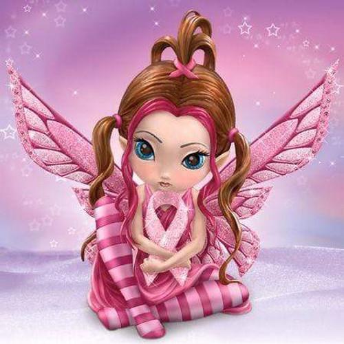 5D Diamond Painting Pink Striped Fairy Kit