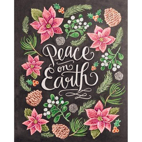 5D Diamond Painting Peace on Earth Chalk Board Kit