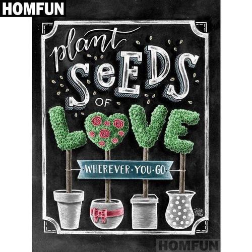 5D Diamond Painting Plant Seeds of Love Kit