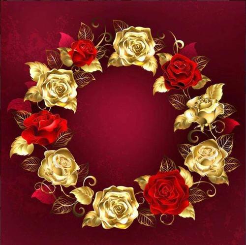 5D Diamond Painting Ring of Roses Kit