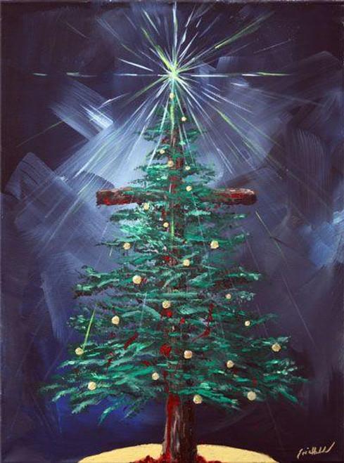 5D Diamond Painting Cross Christmas Tree Kit
