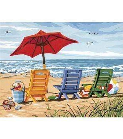 5D Diamond Painting Beach Chairs Kit