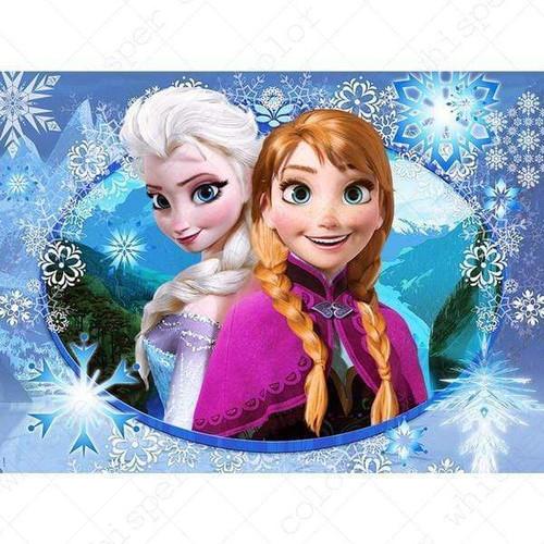 5D Diamond Painting Elsa & Anna Snowflake Kit