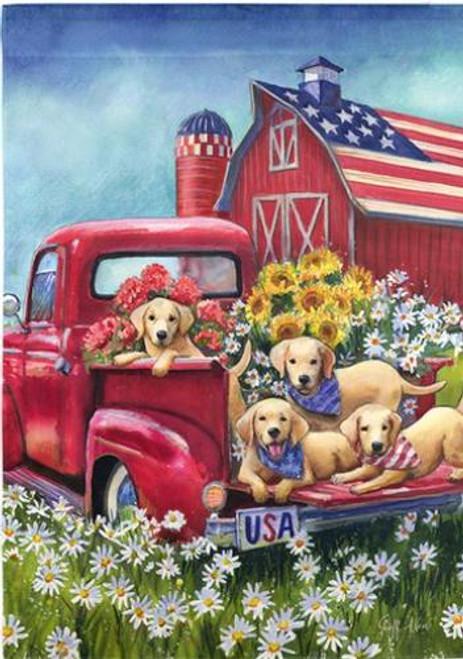 5D Diamond Painting All American Puppies Kit