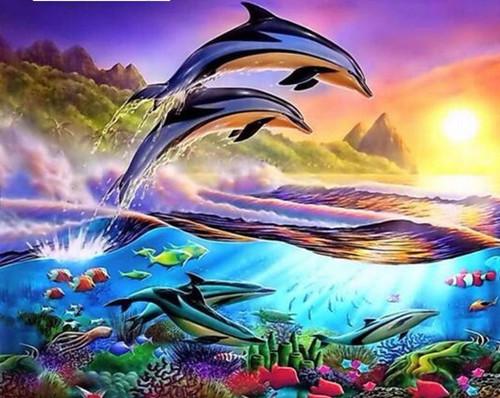 5D Diamond Painting Dolphin Kit