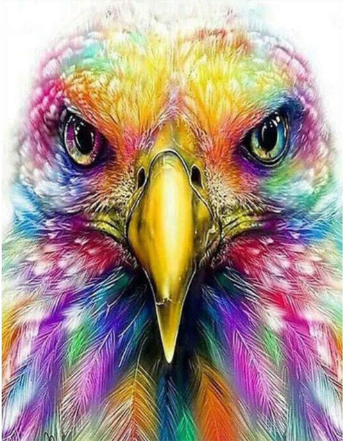 5D Diamond Painting Rainbow Feather Eagle Kit