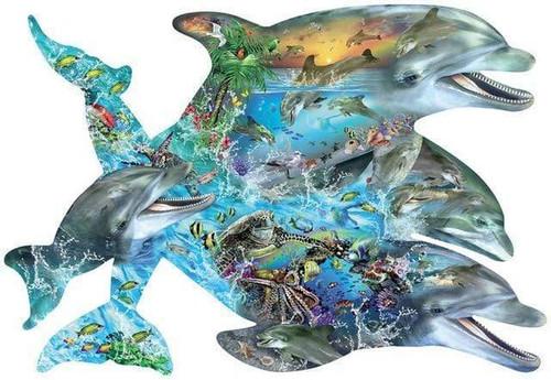 5D Diamond Painting Dolphin Collage Kit