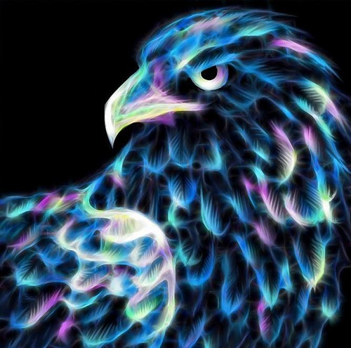 5D Diamond Painting Glowing Feather Eagle Kit
