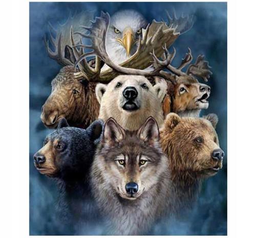 5D Diamond Painting Wild Animals Kit