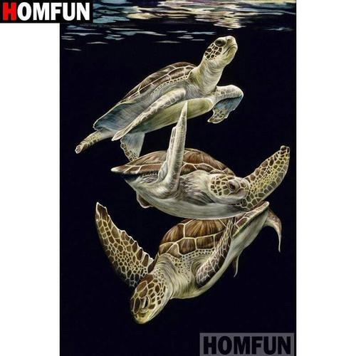 5D Diamond Painting Three Turtles Kit