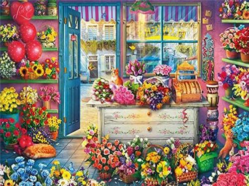 5D Diamond Painting Floral Shop Kit