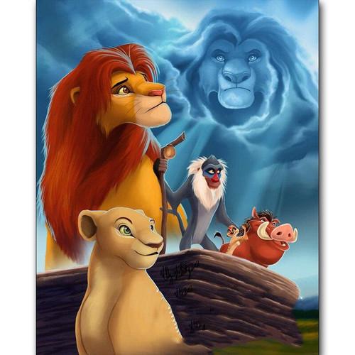 5D Diamond Painting Simba Guided by Mufasa Kit