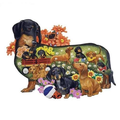 5D Diamond Painting Dachshund Puppy Collage Kit