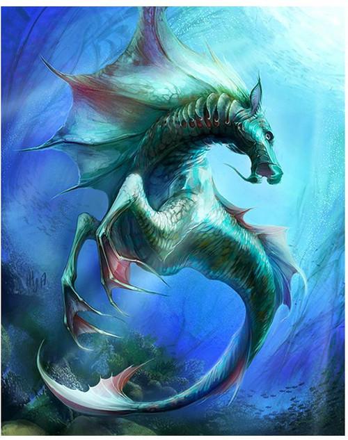 5D Diamond Painting Dragon Sea Horse Kit