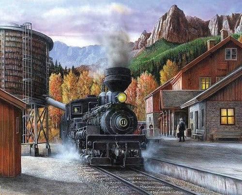 5D Diamond Painting Freight Train Kit