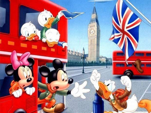 5D Diamond Painting Mickey & Donald in London Kit